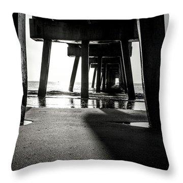 Beneath The Pier Throw Pillow