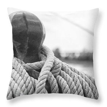 Beneath The Sail Coiled Rope Throw Pillow
