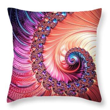 Beneath The Sea Spiral Throw Pillow