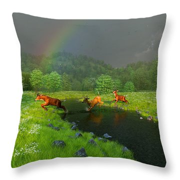 Beneath The Waning Mist Throw Pillow