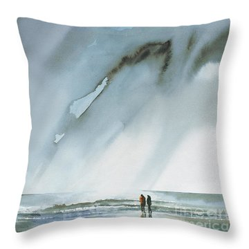 Beneath Turbulent Skies Throw Pillow
