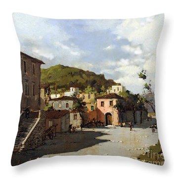 Provincia Di Benevento-italy Small Town The Road Home Throw Pillow