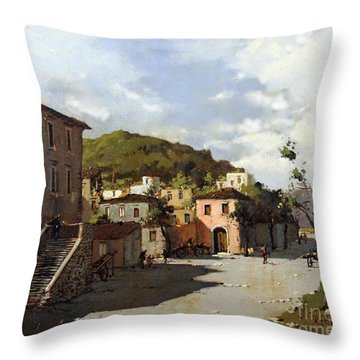 Provincia Di Benevento-italy Small Town The Road Home Throw Pillow
