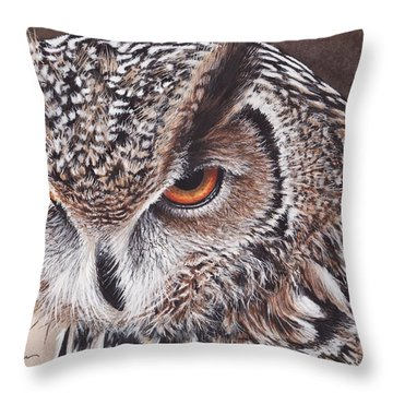 Bengal Eagle Owl Throw Pillow