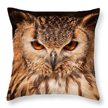 Bengal Owl Throw Pillow