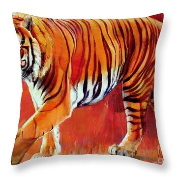 Bengal Tiger  Throw Pillow by Mark Adlington