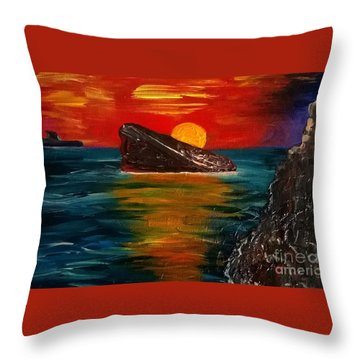 Benidorm Throw Pillow