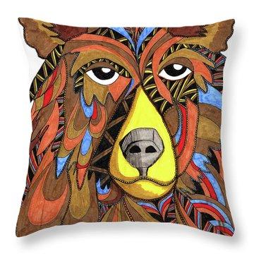Benjamin Bear Throw Pillow
