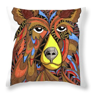 Benjamin Bear Throw Pillow