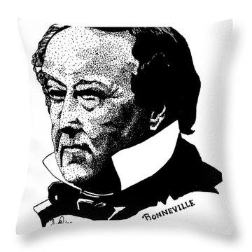 Benjamin Bonneville Throw Pillow