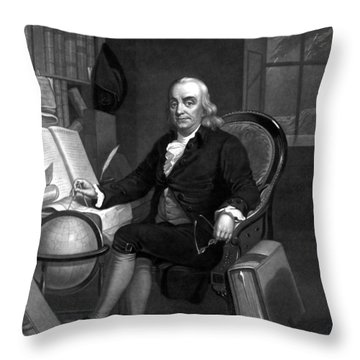 Benjamin Franklin -- The Scientist Throw Pillow