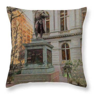 Benjamin Franklin Sketch Throw Pillow