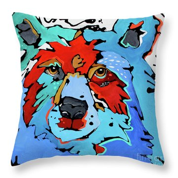 Benjamin The Bear Throw Pillow