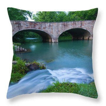 Throw Pillow featuring the photograph Bennett Spring by Steve Stuller