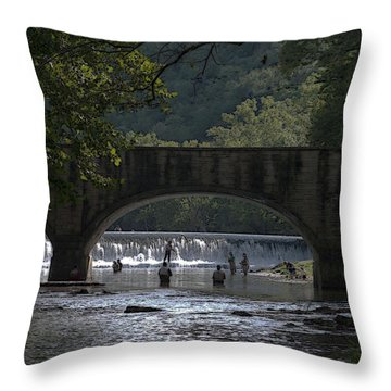 Bennett Springs Bridge Throw Pillow