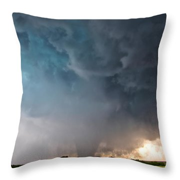 Bennington Kansas Tornado Structure Throw Pillow