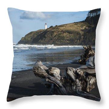 Benson Beach And North Head Throw Pillow