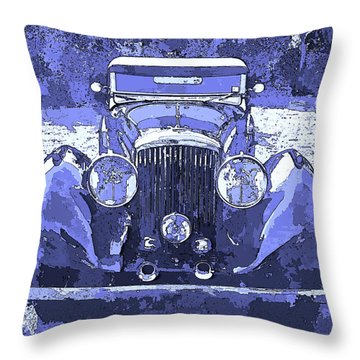 Bentley Blue Pop Art P2 Throw Pillow