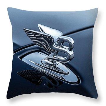 Bentley Flying B Throw Pillow by Douglas Pittman
