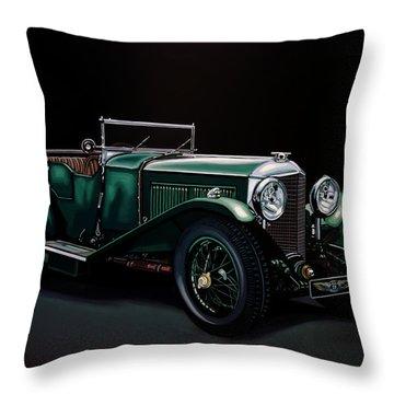Bentley Open Tourer 1929 Painting Throw Pillow