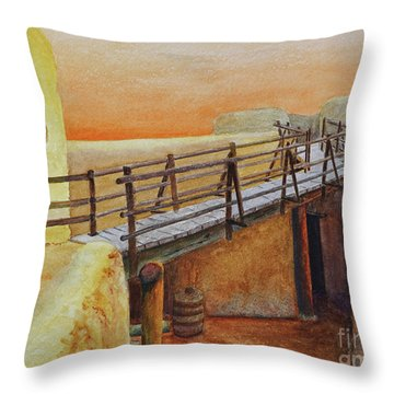 Bent's Old Fort Throw Pillow