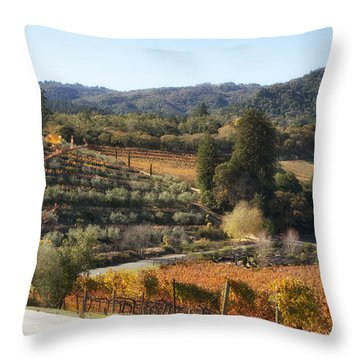 Benziger Winery Throw Pillow