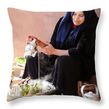 Throw Pillow featuring the photograph Berber Woman by Andrew Fare