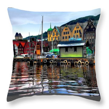 Bergen Colors Throw Pillow by Jim Hill