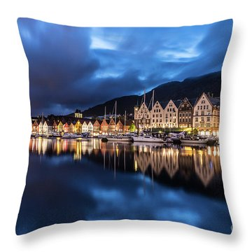 Bergen Harbor Throw Pillow