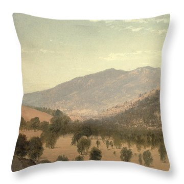 Bergen Park Throw Pillow by John Frederick Kensett