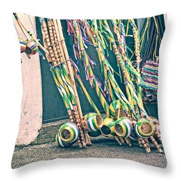 Throw Pillow featuring the photograph Berimbau's by Kim Wilson