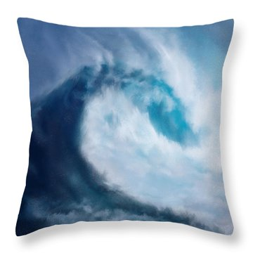 Throw Pillow featuring the digital art Bering Sea by Mark Taylor