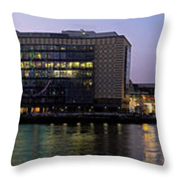 Throw Pillow featuring the photograph Berlin 360 Grad  by Juergen Held