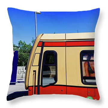 Berlin S-bahn Throw Pillow