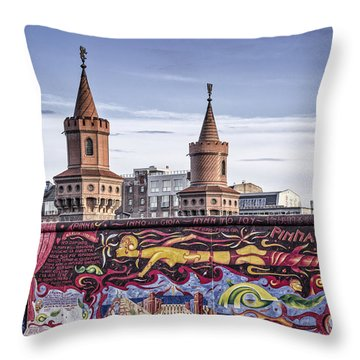 Throw Pillow featuring the photograph Berlin Wall by Juergen Held