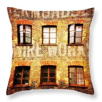 Throw Pillow featuring the photograph Bermondsey Mesh And Wire Works by Anne Kotan