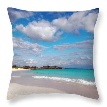 Bermuda Beach Throw Pillow by Charline Xia