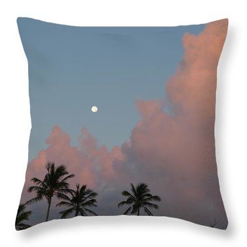 Bermuda Morning Moon Throw Pillow