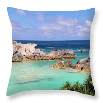 Bermuda Seascape Throw Pillow