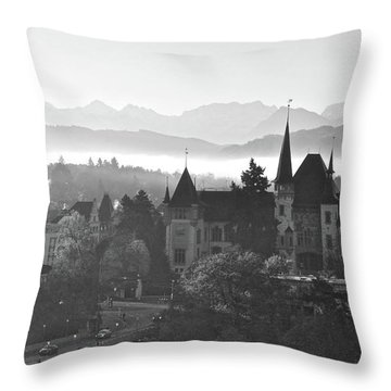 Bern In The Fog Throw Pillow