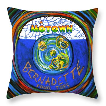 Bernadette By Four Tops Throw Pillow