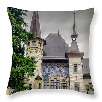 Berne Historical Museum Throw Pillow by Michelle Meenawong
