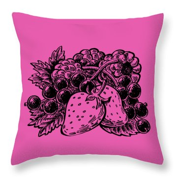 Berries From Forest Throw Pillow