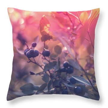Berries In The Sun Throw Pillow