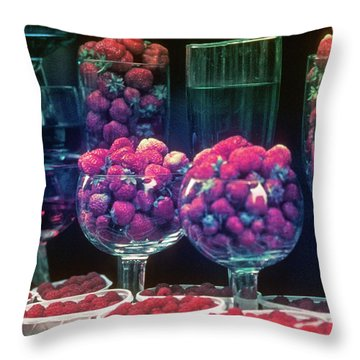 Berries In The Window Throw Pillow