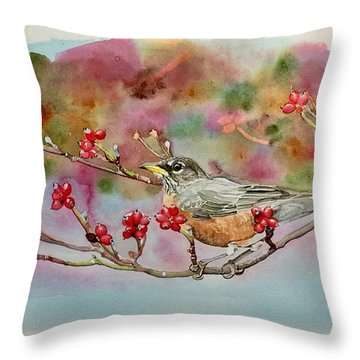 Berry Abundant II Throw Pillow
