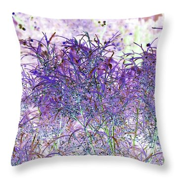 Throw Pillow featuring the photograph Berry Bush by Ellen O'Reilly