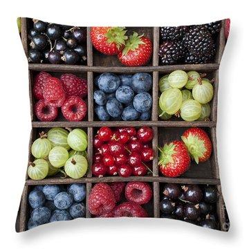 Berry Harvest Throw Pillow