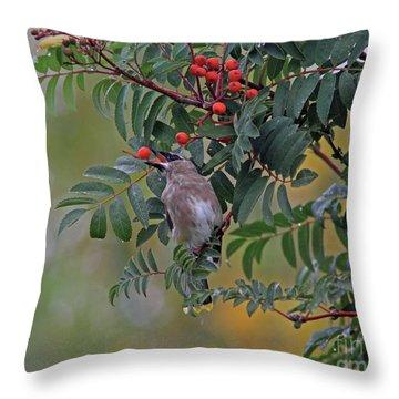 Berry Picking Throw Pillow