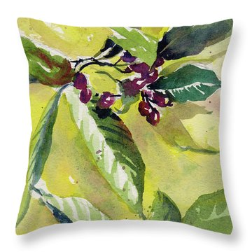 Throw Pillow featuring the painting Berry Study by Kris Parins